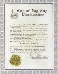 "2014 ""96 Tears"" proclaimed Bay City's Official Rock and Roll Song"