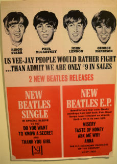 "Vee-Jay Records was an important ARP customer - In 1964 ARP pressed a number of hit records by The Beatles on Vee-Jay and Tollie, its subsidiary label - These included # 3 ""Please Please Me"", # 2 ""Do You Want to Know A Secret"", # 2 ""Twist And Shout"", and # 1 ""Love Me Do"""