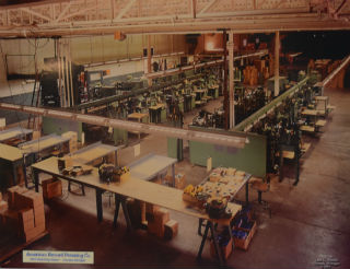 The record presses at ARP in the 1960's