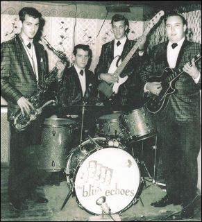 Blue Echoes 1961 (L to R) Ron Good, Dino Richards, Larry Palmiter, Jimmy Black