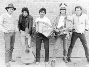 "Bobby Balderrama (2nd from left) with Joe ""King"" Carrasco Band"