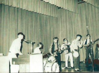 The Chentelles at Fennville High (L to R) Bill Dalton, Barb Overhiser, Bruce Smiertka, Dennis Smiertka, Mark Adams, John Willerton