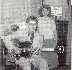 Dennis Coffey with sister Pat and his first electric guitar