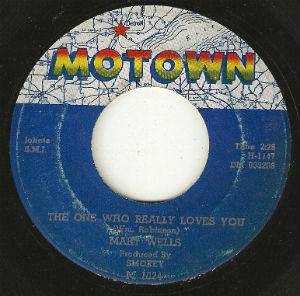 "This 45 rpm single of the 1962 hit ""The One Who Really Love You"" by Mary Wells was pressed at ARP's Main St. plant"