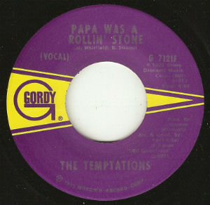 """Papa Was A Rollin' Stone"" by The Temptations was one of the last Motown singles pressed at ARP before the fire"