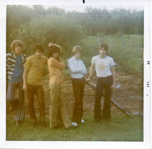 1970's (L to R) Scott Frost, Richie Schultz, Question Mark, Al Wotton, Tony Alvarez
