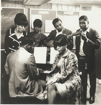 H-D-H with the Supremes (Standing) Diana Ross, Mary Wilson, Eddie Holland, Brian Holland (Seated) Lamont Dozier, Florence Ballard