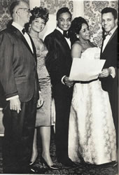 Berry with his parents, sister, and Jackie Wilson